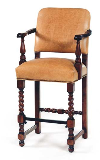 Charles Stewart Barley Twist Bar Stool The Collected