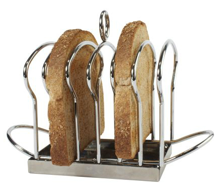SUR LA TABLE Stainless Steel Toast Rack with Crumb Tray