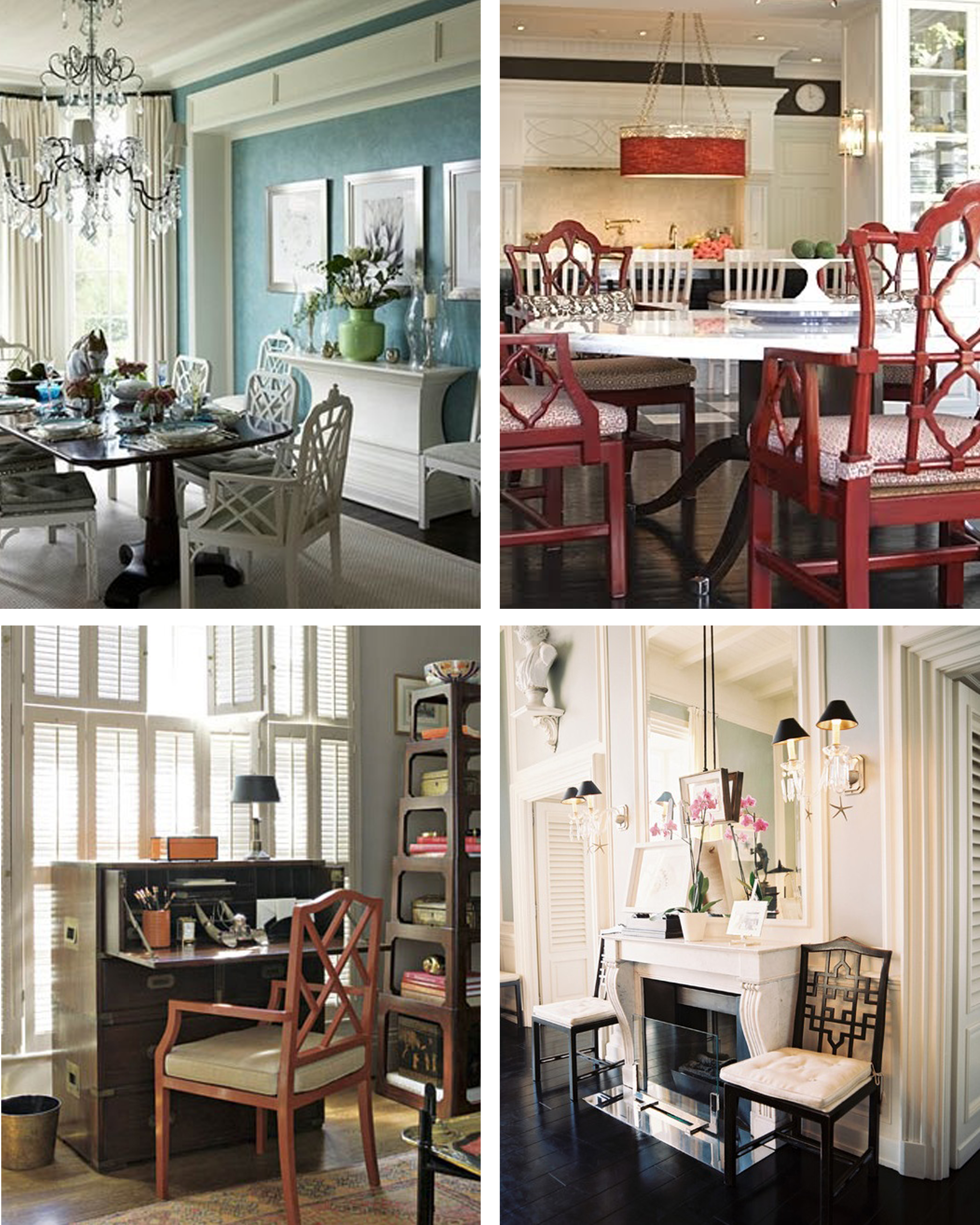 north carolina interior designer and author kathryn greeley uses chinese chippendale chairs in design