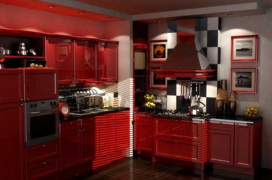 """All Red Kitchen designer notebook"""": kitchens in the red!   the collected room"""