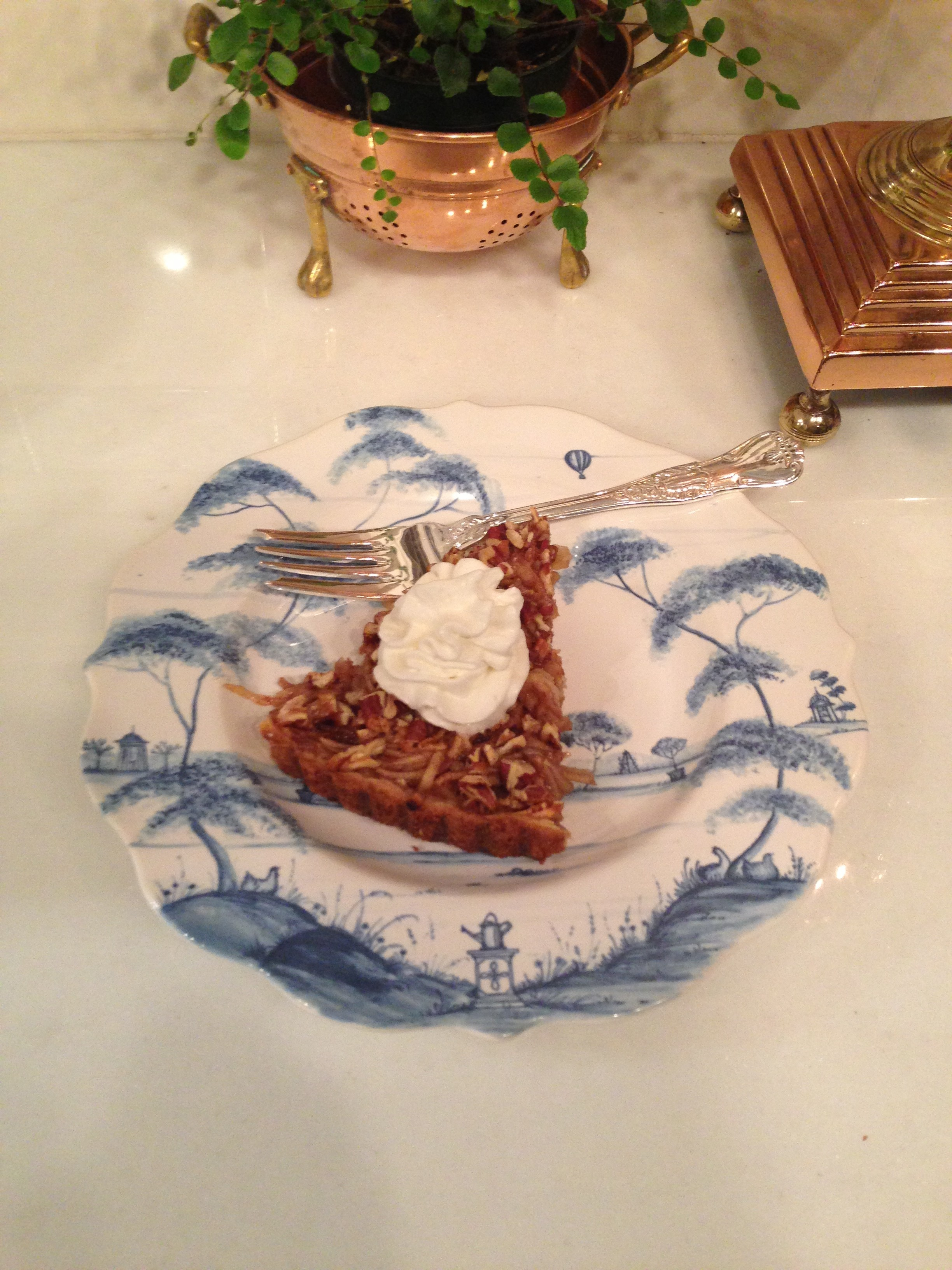 Apple Flan Recipe Entertaining Tales from Chestnut Cottage presented by north carolina interior designer kathryn greeley