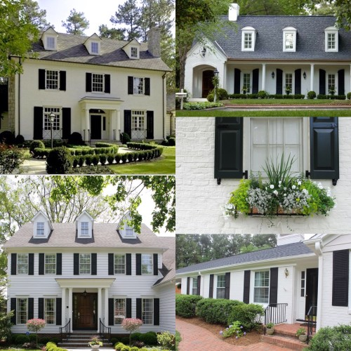 north carolina interior designer presents white brick house